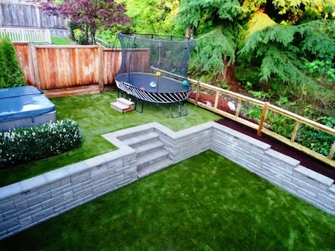 What Dylan's yard now looks like when the SYNLawn team were through.
