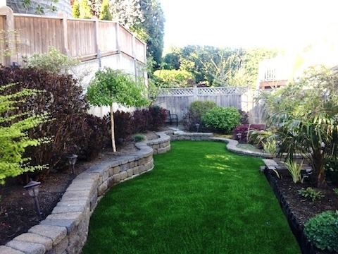 Imagine mowing this so close against the brick wall but with SYNLawn there's no need. Looks great all year long!