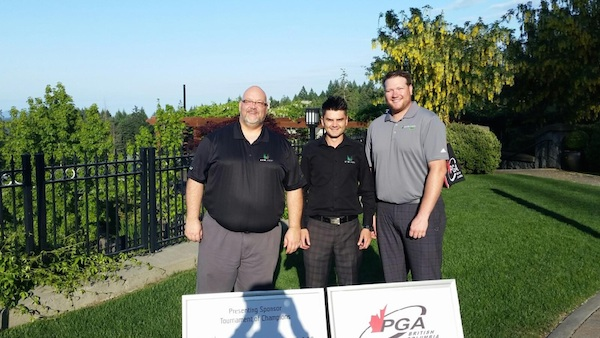 Mike, John & Lawrence as presenting sponsors for the Invitational Tournament of Golf Pro's