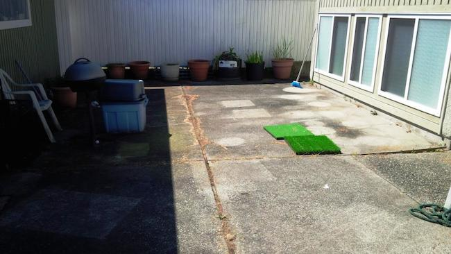 Synthetic grass or concrete? What will it be?