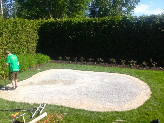 Groundwork down and tamped.