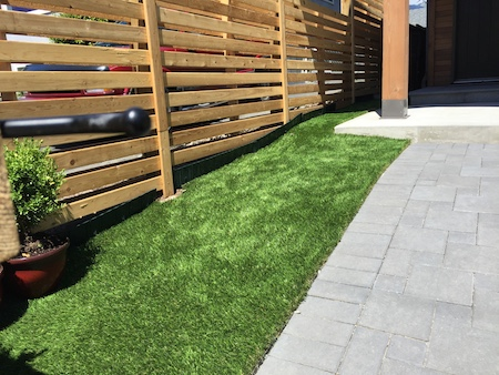 This synthetic grass trim requires no watering and looks so much cleaner!