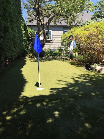 After with a SYNLawn backyard putting green.