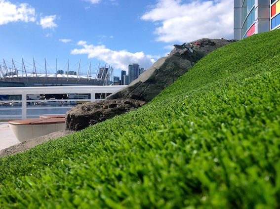 Do you recognize Vancouver Harbour with our synthetic grass?
