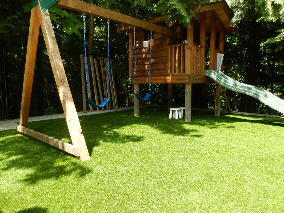 Backyard SYNLawn playground system